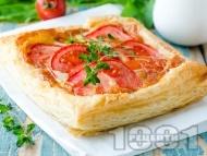 Рецепта Бързи бутер лодки с домати и моцарела